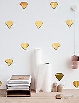 cheap -Still Life / Diamond Shapes Wall Stickers Mirror Wall Stickers Decorative Wall Stickers, Acrylic Home Decoration Wall Decal Wall Decoration 12pcs