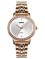Недорогие -Женские кварцевые часы со стразами, женские водонепроницаемые часы 30 метров, подарок на день рождения с ремешком из нержавеющей стали
