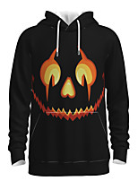 cheap -Daddy and Me Active Graphic 3D Print Print Long Sleeve Regular Hoodie & Sweatshirt Black