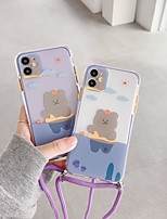 cheap -Case For iPhone 11 Transparent Pattern Back Cover Animal Cartoon Silicone Case For iPhone 11 Pro Max / SE2020 / XS Max / XR XS 7 / 8 7 / 8 plus