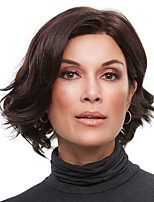 cheap -Synthetic Wig Curly Asymmetrical Wig Short Dark Brown Synthetic Hair Women's Fashionable Design Exquisite Comfy Brown