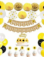 cheap -sunflower birthday party decorations supplies kit, 1st birthday decorations for girl, summer fall birthday party decorations, kids birthday decorations (yellow)