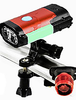 cheap -cyclights luminous 500 lumens usb rechargeable bicycle light set, super bright bike front light and led tail light, easy to remove & install for safe cycling (red)