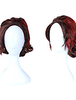 cheap -Cosplay Cosplay Cosplay Wigs Unisex Side Part 35 inch Curly Burgundy Adults' Anime Wig