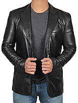 cheap -sport coats and blazers for men - mens black leather jacket | [1500561] blazer, xs