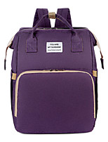 cheap -Women's Oxford School Bag Diaper Bag Commuter Backpack Large Capacity Breathable Zipper Outdoor Traveling Black Purple Sky Blue Gray