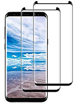 cheap -galaxy s8 screen protector [2-pack], tempered glass screen protector [case-friendly][no bubbles][easy to install][anti fingerprint][full coverage] screen protector compatible samsung galaxy s8