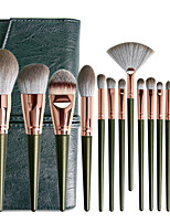 cheap -14 Pcs Green Cloud Makeup Brush Set Beauty Tools Eyeshadow Makeup Brush Set Soft Hair Portable Loose Powder Brush