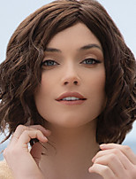 cheap -Synthetic Wig Curly Jerry Curl Asymmetrical Wig Short Brown Silver Synthetic Hair 10 inch Women's Fashionable Design For Black Women Exquisite Silver Brown