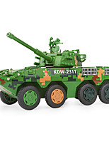 cheap -KDW 1:32 Plastic Alloy Military Vehicle Wheeled Assault Gun Engineering Vehicle Alloy Car Model Deformation Simulation All Adults Kids Car Toys
