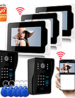 cheap -WIFI / Wired & Wireless Recording 7 inch Hands-free One to One video doorphone