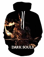 cheap -Inspired by Cosplay Cosplay Costume Hoodie Plush Fabric 3D Printing Hoodie For Men's / Women's