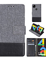 cheap -Case For Google Google Pixel / Google Pixel XL / Pixel 2 Card Holder / Shockproof / with Stand Full Body Cases Solid Colored PU Leather