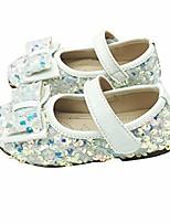 cheap -Girls' Flats Princess Shoes PU Little Kids(4-7ys) Walking Shoes White / Black / Pink Spring