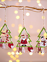 cheap -3pcs  Santa Snowman Deer Christmas Tree Pendant Christmas Decoration Hanging Ornaments Christmas Tree Decor New Year Home Decor