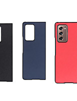 cheap -Case For Samsung Galaxy Galaxy Z Fold 2 Shockproof Back Cover Solid Colored Genuine Leather