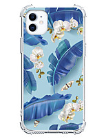 cheap -Plants Leaf Case For Apple iPhone 12 iPhone 11 iPhone 12 Pro Max Unique Design Protective Case Shockproof Back Cover TPU