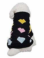 cheap -cute dog puppy clothing sweater small puppy shirt soft pet coats black
