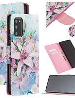 cheap -Case For Samsung Galaxy A21S Wallet Card Holder with Stand Full Body Cases Flower PU Leather Galaxy Note 20 Ultra S20 Plus S10E S8 S9 A01 A11 A21 A31 A41 Note 10