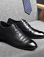 cheap -Men's Oxfords Casual Daily Walking Shoes Nappa Leather Breathable Non-slipping Wear Proof Black / Brown Fall