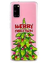 cheap -Case For Samsung Galaxy A21S Transparent Pattern Back Cover Christmas TPU Galaxy A11 A31 A41 A51 A71 A10 A20 A30 A40 A50 S10E S9 Plus S20 Ultra