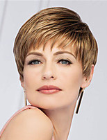 cheap -Synthetic Wig Straight Asymmetrical Wig Short Blonde Synthetic Hair Women's Fashionable Design Exquisite Blonde