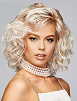 cheap -Synthetic Wig Curly Asymmetrical Wig Short Blonde Synthetic Hair 8 inch Women's Fashionable Design Exquisite Fluffy Blonde