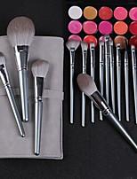 cheap -14 Pcs Wooden Handle Makeup Brush Set For Beginners Makeup Complete Set Of Beauty Tools Storage Bag Loose Powder Blush Brush Eye Shadow Brush Eyebrow Brush Lip Brush