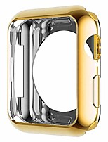 cheap -hankn compatible with apple watch case 40mm 44mm se series 6 5 4, soft tpu plated smooth cover scratch-proof protector frame iwatch protective smartwatch bumper (gold, 44mm)