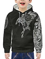 cheap -Kids Boys' Active 3D Print Long Sleeve Hoodie & Sweatshirt Black