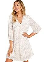 cheap -Women's A-Line Dress Short Mini Dress - Half Sleeve Print Print Summer V Neck Casual 2020 White S M L