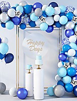 cheap -144 pcs blue balloons garland arch kit 12''10''5'' navy royal blue white confetti pearlescent star silver metallic balloons for birthday baby shower wedding party decorations supplies with 4pcs tools
