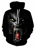 cheap -Inspired by Cosplay Beast Cosplay Costume Hoodie Plush Fabric 3D Printing Hoodie For Men's / Women's