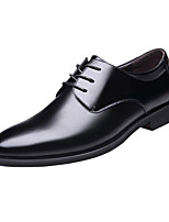 cheap -Men's Oxfords Daily Walking Shoes PU Wear Proof Black / Brown Spring / Fall