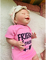 cheap -NPKCOLLECTION 20 inch Reborn Doll Baby Gift Hand Made Artificial Implantation Blue Eyes Nonwoven 3/4 Silicone Limbs and Cotton Filled Body with Clothes and Accessories for Girls' Birthday and