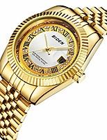 Недорогие -женские часы золото нержавеющая сталь водонепроницаемые дата аналоговые кварцевые часы бизнес наручные часы для женщин