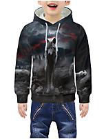 cheap -Kids Boys' Active 3D Graphic Animal Print Long Sleeve Hoodie & Sweatshirt Gray