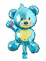 cheap -16 inch mini cartoon animal bear children's toys decoration foil balloons birthday&party balloons cute helium balloon (mini bear brown)