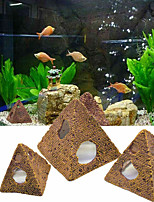 cheap -Pyramid Fish Shrimp Shelter House Scorpion House Fish Tank Aquarium Decor Resin Ornament