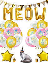 cheap -Party Balloons 26 pcs Cat Party Supplies Latex Balloons Banner Boys and Girls Party Birthday Decoration 12 Inch for Party Favors Supplies or Home Decoration