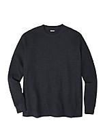 cheap -men's big & tall waffle knit thermal crewneck tee - big - xl, heather charcoal long underwear top