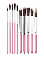 cheap -xiaoyu 10pcs makeup brushes premium makeup brush set, makeup brush set cosmetics foundation blending blush eyeliner face powder lip brush makeup brush kit, silver & pink