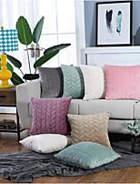 cheap -Cushion Cover Thick Plush Quilted Sofa Pillowcase Cushion Cover Simple And Modern