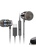 cheap -HiFi Earphone Dynamic In Ear Earphones with Flat Head Plug Sport Headset Bass Earbuds with Portable Earphone Bags