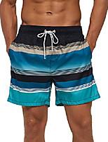 cheap -men's beach shorts swim trunks quick dry summer with pockets,black blue striped,xsmall