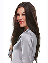 cheap -Synthetic Wig kinky Straight Asymmetrical Wig Long Brown Synthetic Hair 20 inch Women's Fashionable Design Exquisite Comfy Brown