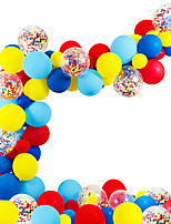 cheap -Party Balloons 82 pcs Rainbow Party Supplies Latex Balloons Hanging Swirl Boys and Girls Party Decoration 12 Inch for Party Favors Supplies or Home Decoration