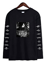 cheap -Inspired by Naruto Cosplay Akatsuki Uchiha Hoodie Polyester / Cotton Blend Print Printing Hoodie For Men's / Women's