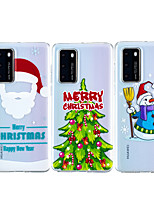 cheap -Case For Huawei Huawei P30 / Huawei P30 Pro / Huawei P30 Lite Shockproof / Transparent Back Cover Christmas TPU