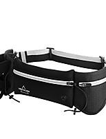 cheap -running belt with water bottle adjustable waterproof headphone slot waist pack bag (gray&black)